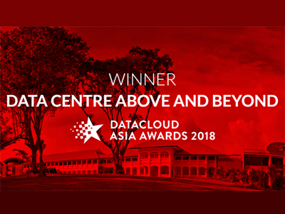 STT GDC Wins Data Centre Above And Beyond Award at Datacloud Asia 2018