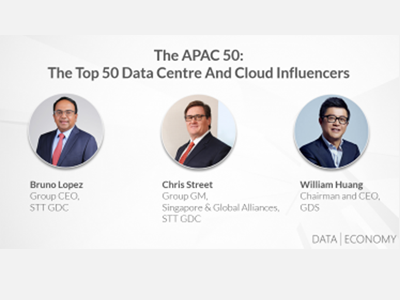 Bruno Lopez, Chris Street and William Huang Featured On Data Economy's APAC Top 50 Data Centre And Cloud Influencers