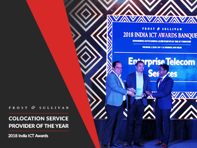 Colocation Service Provider of 2018 Award by Frost & Sullivan