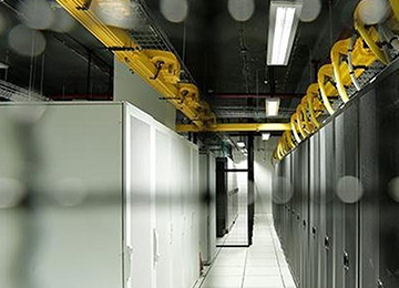 Servers stored in a data centre